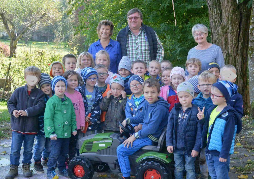 Kindergarten Tittling, News, Spende Traktor