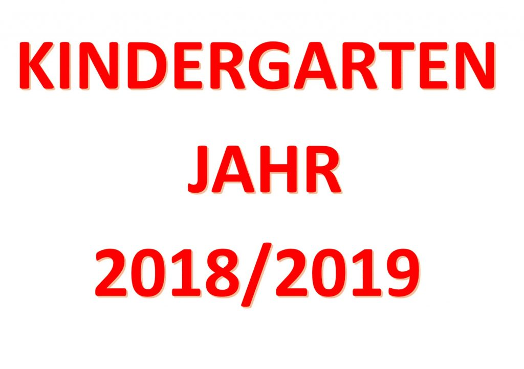 Kindergarten Tittling, News, neues Kindergartenjahr 2018/2019
